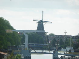 Amsterdam Windmill taken from tour bus , Sylvia W - June 2015