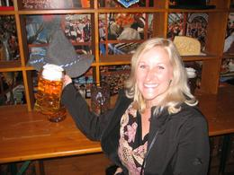 A picture of myself practicing how to hold my beer correctly. Don't want to look like a tourist at Oktoberfest!, Stacey K - October 2008