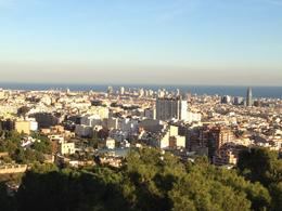Barcelona from Park Guell, SCV - April 2012