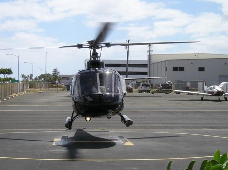 Helicopter in flight - Oahu