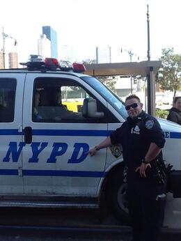 Our friendly NYPD officers , Vicky - October 2014