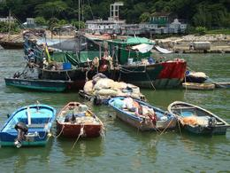 Tai O fishing VIllage, very hot here! A true fishing village, well looked after here - August 2010