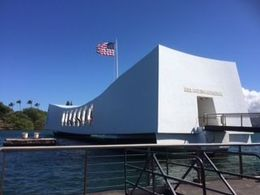 A memorable visit to a part of history - taken from the boat while departing the memorial , Kylie L - June 2015