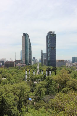 View from the castle - you can see all the way down Reforma Avenue and the Angel of Independence. There's a story behind this view that you'll only learn on the tour!, Bandit - May 2016