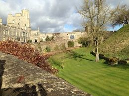 Windsor Castle looking down into the garden area before walking into the Castle. , Mommy2hh - March 2015