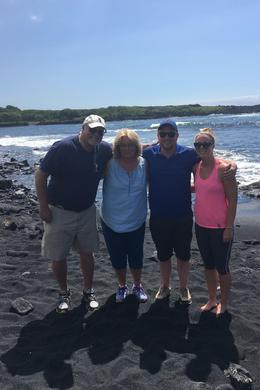Black sand beach. Pretty hot in July : , Donald S - August 2016