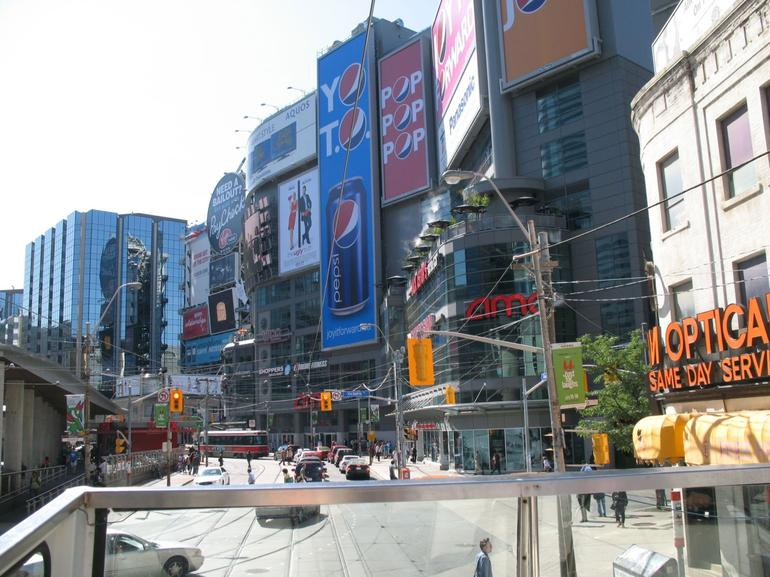 Dundas Square - Toronto, from Hop-on Hop-off bus - Toronto