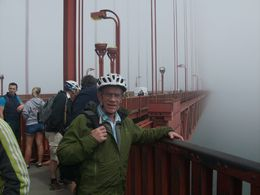 Entering the bridge. Robert tour guide busy taking pictures at all the stops. , Jeff G - August 2016