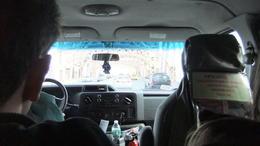 Auf dem Weg zum Flughafen im Großraumtaxi , Elke Z - February 2014