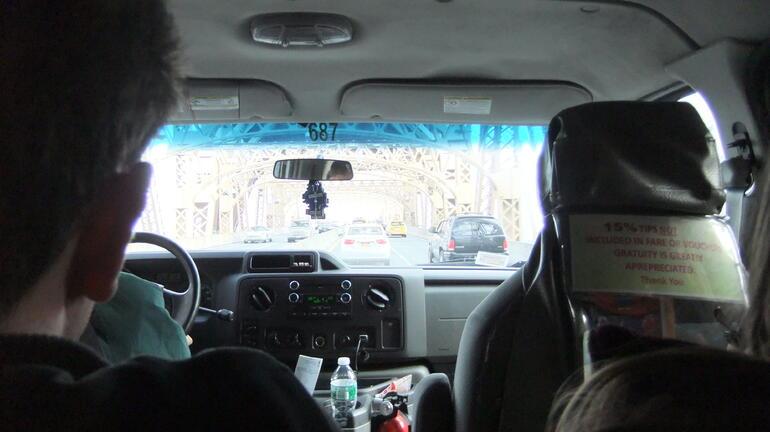 Hinweis auf den Tip im Fahrzeug - New York City