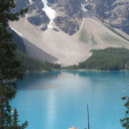 Gorgeous teal blue Lake Moraine. Lake Louise and Emerald were also beautiful! , Sharon P - August 2016