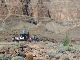 A helicopter similar to the one we travelled and landed in the Canyon. , Andrew G - October 2013