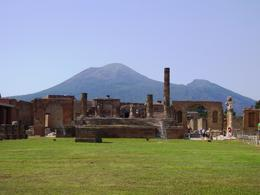 Mt. Vesuvius with a bunch of cool super old stuff left from the eruption in 79 A.D., Erika H - August 2008