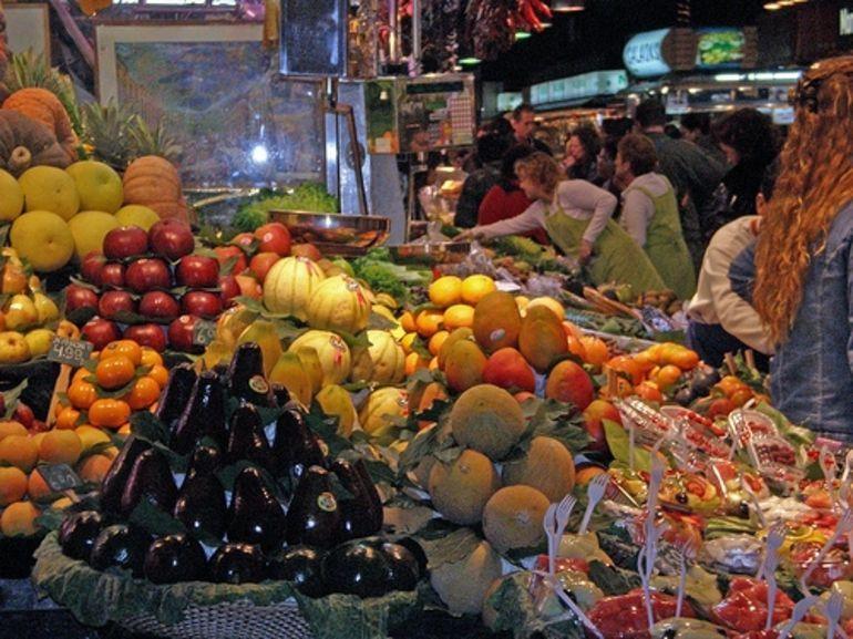 Shopping at Catalan Food Market - Barcelona