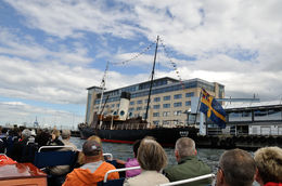 A view from the canal cruise boat of the SS Bore, built in 1894, the oldest steam powered ice breaker in the world, berthed in Malmo harbour. , Richard H - June 2015