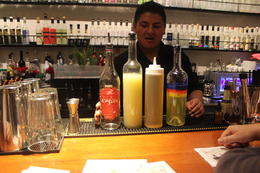 This is the bar where we made our drinks , Jamie E - September 2014