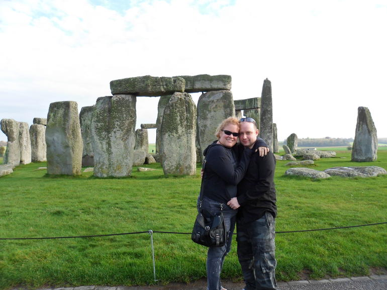 Us in front of Stonehenge! - London