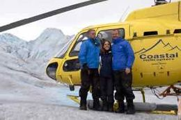 Family pic by the helicopter following our glacier walk in Juneau. , Peter D - August 2016