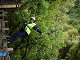 My Husband Ferdie ready to go down. Me posing on the small shinny ledge - last part of the Zipline adventure....before going down to the ground.... , Ferdie V - October 2015
