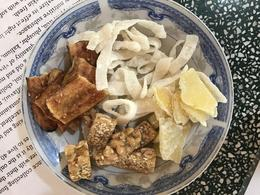 snacks like candied coconuts and ginger , Danielle W - March 2017