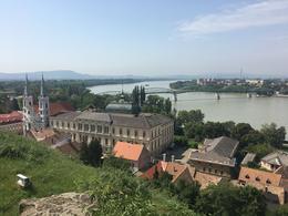 View of Štúrovo, Slovakia from Esztergom , Chris V - August 2017
