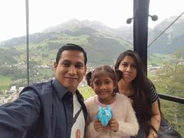 I, Mohammed Monirul Islam and my family inside the cable car to Titlies , MOHAMMED MONIRU I - August 2017
