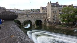 Walking around the town of Bath- beautiful river with bridge , Natalie N - May 2014