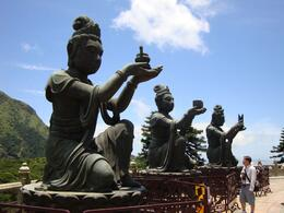 Statues surrounding Budha - August 2010