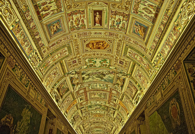 Cieling of Art - Rome