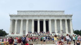This is a close as we got to seeing the Lincoln Memorial on July 3, 2015. Since the very expensive tour was rush, rush and rush it was strongly suggested we not mount the stairs to see Lincoln's ... , Florida Traveler - July 2015