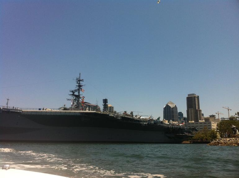 Cruising past the USS Midway - San Diego