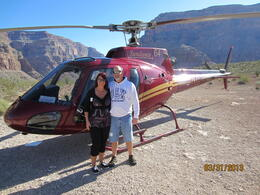 My husband and I at our picnic location in the Grand Canyon , Gregory W - April 2013