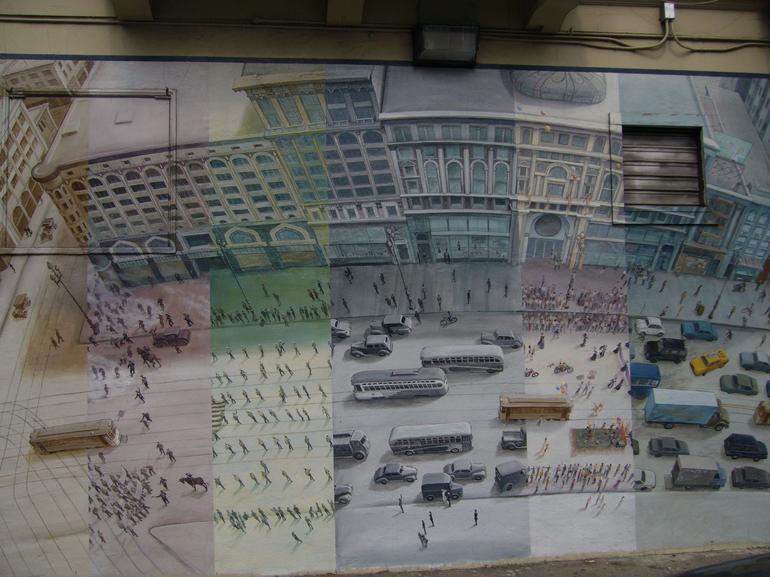 Mural of SF Transit History - San Francisco