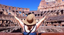 Inside the Colosseum , Pamela R - August 2015
