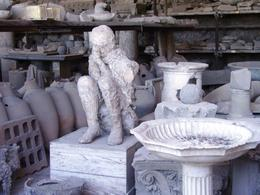 Found in the Pompeii ruins then injected with plaster to help retain the shape (Very interesting. Learned that on the tour.), Erika H - August 2008