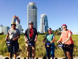 Four of us take a segway tour in Miami , Jonathan G - January 2014
