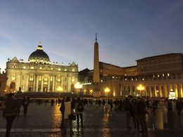 St. Peter's Square is basically where our tour ended , Isabel E - January 2016