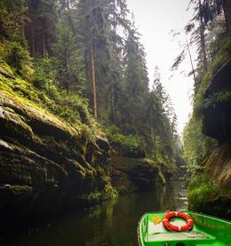Czech side, river boat/gorge. , Kathryn H - September 2016