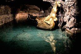 underground lake boat ride , Nathaniel O - February 2016