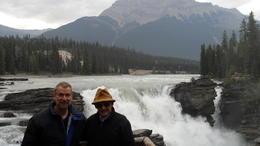 Dad and me at Athabasca Falls. , Robert H - July 2017