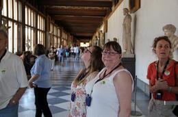 Inside the Uffizi Gallery, with Kim and Paige Goldsborough. , John G - August 2014