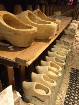 Clog making inside the Wood Shoe Factory on Marken , Lisa F - September 2015