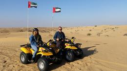 Paul and I Quad biking in the sand dunes , Robyn M - December 2014