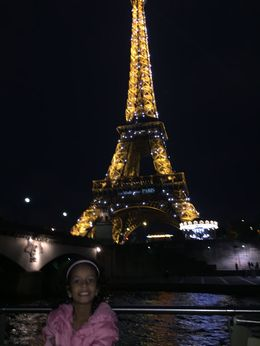 Aamina with the Illuminating of the Eiffel Tower , Jezmi A - October 2015
