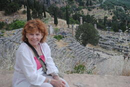 My wife has always wanted to go and visit Delphi so her she is . , Prof. Bob - June 2014