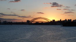 Sunset cruise on the Sydney Harbour - October 2012
