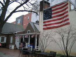 This is the house of Betsy Rose, the woman who made the first flag of the USA, Angela S - April 2009