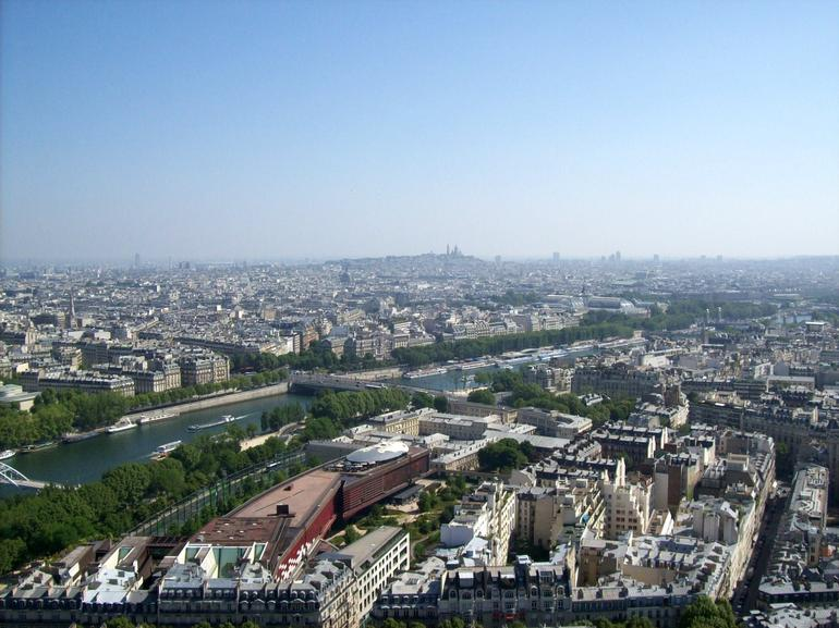 View from the Eiffel Tower Observation Level - Paris