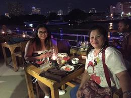 Having our dinner during the river cruise at Chao Phraya River , Dors - November 2016