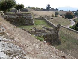 Wall of the fort at Velenca with the lookout at the corner , Brenda B - September 2017